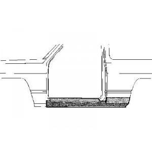 Bas de caisse gauche Nissan Patrol baroud 160/260 jusque 1994