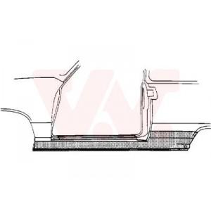 Bas de caisse latéral gauche VW Golf 3 3 ptes 1991-1997 (pièce de carrosserie en métal)
