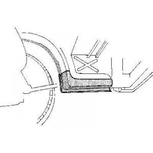 Dessous Bas de caisse Gauche Volkswagen LT 1975 - 1996