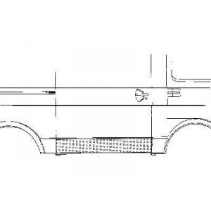 Bas de porte latéral droit VW LT 1975-1996