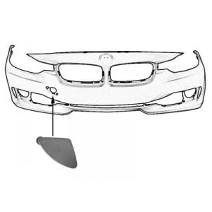 Cache crochet remorquage pare choc avant BMW série 3 F30 à partir de 03/2012