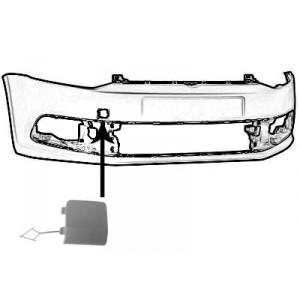 Cache crochet de remorquage avant VW Polo 2014+ (pièce de carrosserie à peindre)