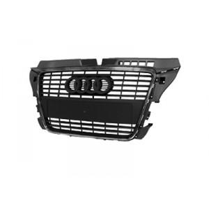Calandre avant Audi A3 2008-2012 (moulure de couleur noire)