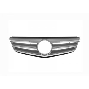 Calandre Mercedes Classe C W204 Avantgarde 2007-2010 (gris/chrome)