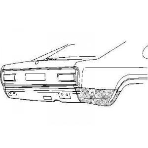 Coin bas aile arrière droit Ford Capri