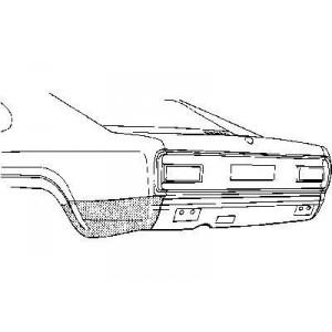 Coin bas aile arrière gauche Ford Capri