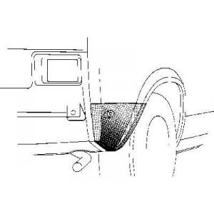 Coin bas aile arrière droit Volkswagen Polo 1975 - 1981