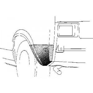 Coin bas aile arrière gauche Volkswagen Polo 1975 - 1981