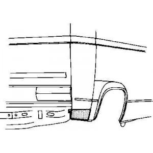 Coin bas aile arrière droit Volkswagen Transporter T3 1980 - 1992