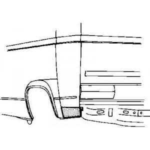 Coin bas aile arrière gauche Volkswagen Transporter T3 1980 - 1992