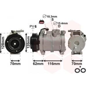 Compresseur de climatisation Chrysler Voyager 2.8 CRD Automatique 2001-2008