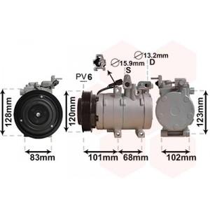 Compresseur d'air climatisé Hyundai Santa Fe 2.0 CRDi (diesel) 2001-2006 (phase 1 et phase 2)