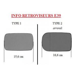 Miroir de rétroviseur gauche BMW série 5 E39 (Chauffant)