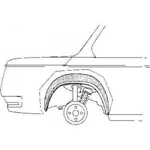 Arc d'aile intérieur Droit Bmw 02 de 1966 à 1977
