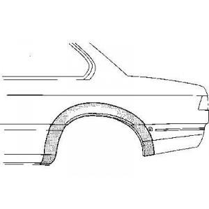 Arc d'aile arriere gauche BMW 3 de 1975 à 1983