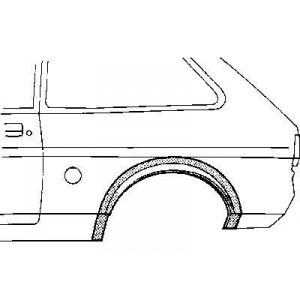 Arc d'aile Arriere Gauche Ford Fiesta I