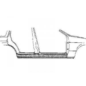 Bas de caisse droit Ford Fiesta V (5 portes)