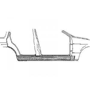Bas de caisse droit Ford Escort III (4 Portes)
