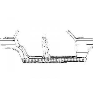 Bas de caisse (metal) Gauche Mercedes W124 de 1985 à 1995