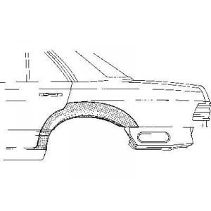 Arc d'aile arrière Gauche Mercedes W124 de 1985 à 1995