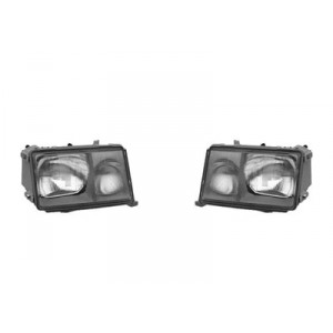 2 Phares avant Mercedes W124 Phase 2 89-93 (marque Hella)