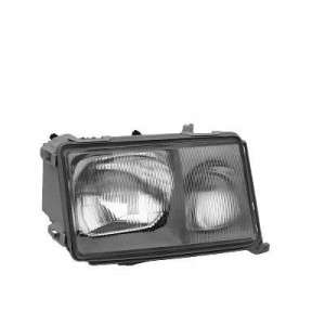 Phare avant droit complet Mercedes W124 Phase 1 85-89 (marque Hella)