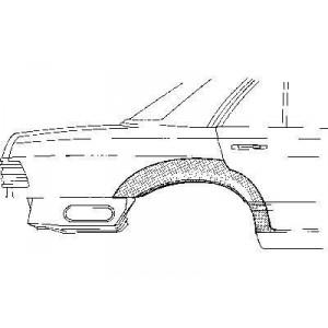Arc d'aile arrière Droite Mercedes W126