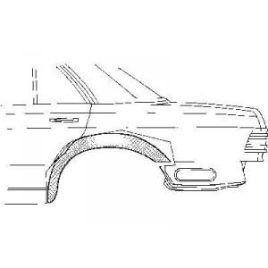 Arc d'aile arrière intérieur Gauche Mercedes W126