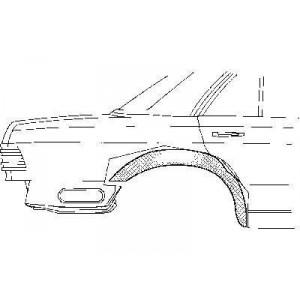Arc d'aile arrière intérieur Droit Mercedes W126