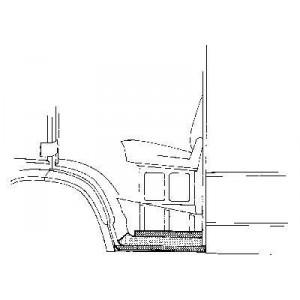 Bas de caisse Gauche Mercedes 207D W601