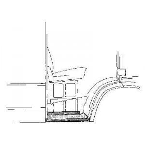 Bas de caisse Droit Mercedes 207D W601