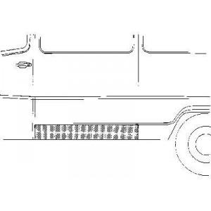 Panneau latéral inférieur gauche Mercedes 207D W601