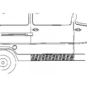 Panneau latéral inférieur droit Mercedes 207D W601