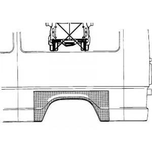 Arc d'aile arrière Gauche Mercedes 207D W601