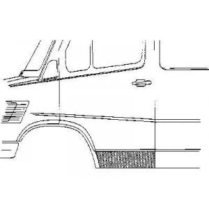 Panneau de porte gauche Mercedes 207D W601