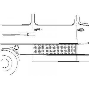 Panneau de porte de charge droite Mercedes 207D W601