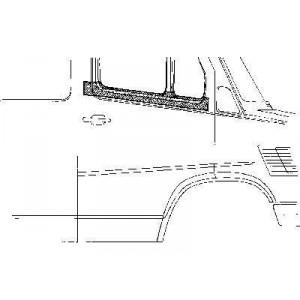 Panneau de porte supérieur droit Mercedes 207D W601