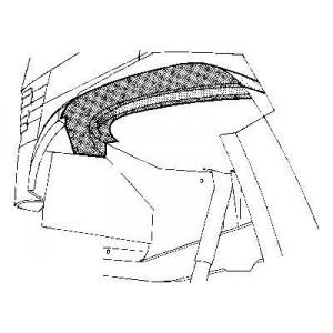 Arc d'aile avant intérieur Gauche Mercedes 207D W601