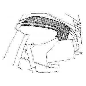 Arc d'aile avant intérieur Droit Mercedes 207D W601
