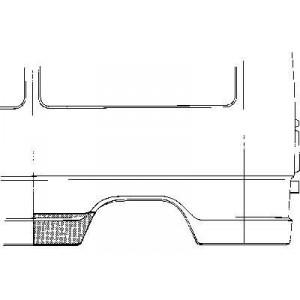 Tôle latérale gauche Mercedes 207D W601 (3700)