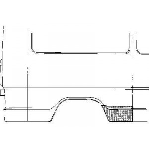 Tôle latérale droit Mercedes 207D W601 (3350)