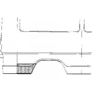 Tôle latérale arrière droit Mercedes 207D W601 (3350)