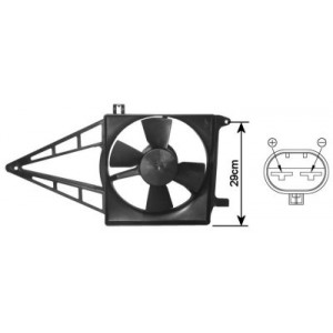 Ventilateur Electrique Radiateur Opel Vectra A (1.4/1.6)