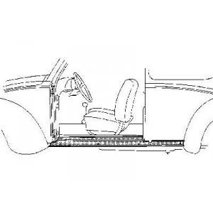 Bas de caisse Gauche Volkswagen Coccinelle