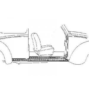 Bas de caisse Droit Volkswagen Coccinelle