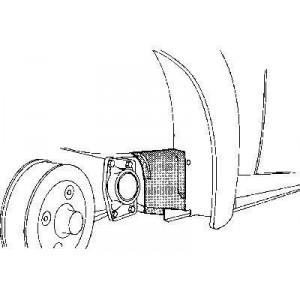 Pare boue Arriere droit Volkswagen coccinelle