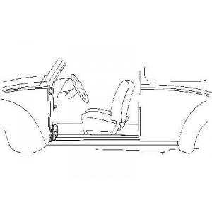 Renfort de charnière gauche Volkswagen Coccinelle