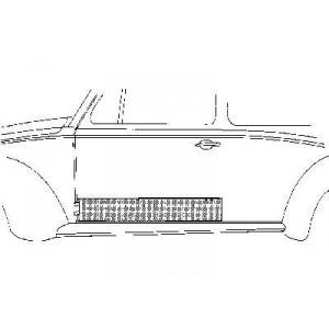 Panneau de porte gauche Volkswagen Coccinelle