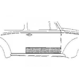 Panneau de porte droite Volkswagen Coccinelle