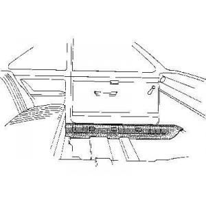 Bas de caisse intérieur Gauche Volkswagen Coccinelle